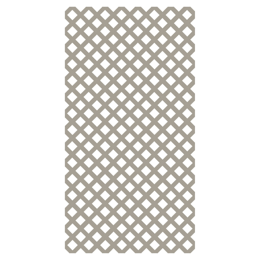 Freedom Clay Vinyl Traditional Lattice (Common: 1/8-in x 48-in x 8-ft; Actual: 0.15-in x 47.53-in x 7.92-ft)