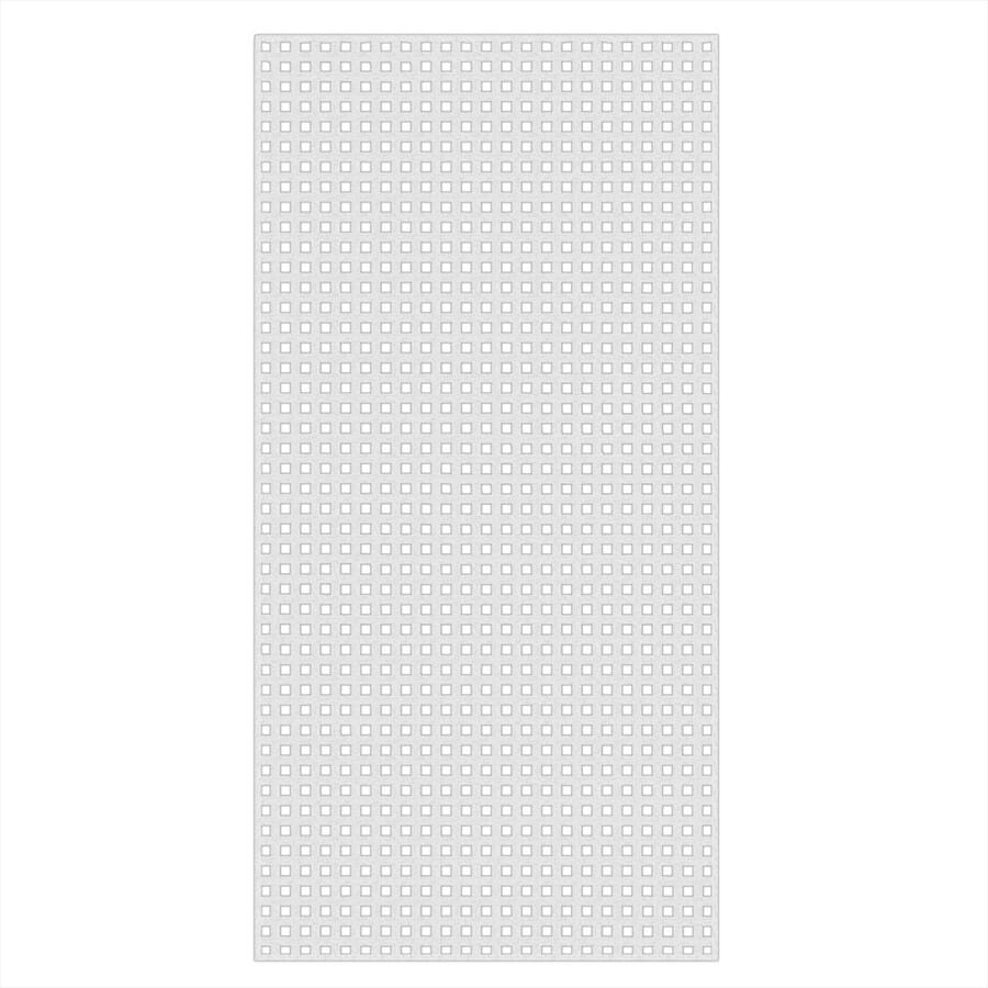 White Vinyl Square Lattice (Common: 1/4-in x 48-in x 8-ft; Actual: 0.19-in x 47.53-in x 7.92-ft)