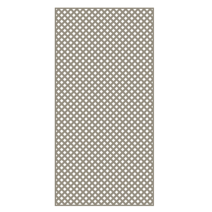 Freedom Clay Vinyl Privacy Lattice (Common: 1/4-in x 48-in x 8-ft; Actual: 0.19-in x 47.53-in x 7.92-ft)