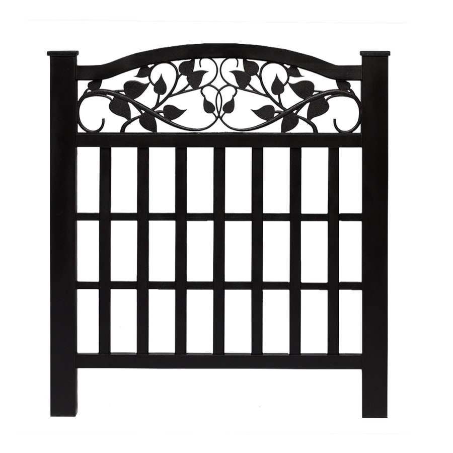 Shop Barrette Black Vinyl Fence Panel Common 38 In X 32