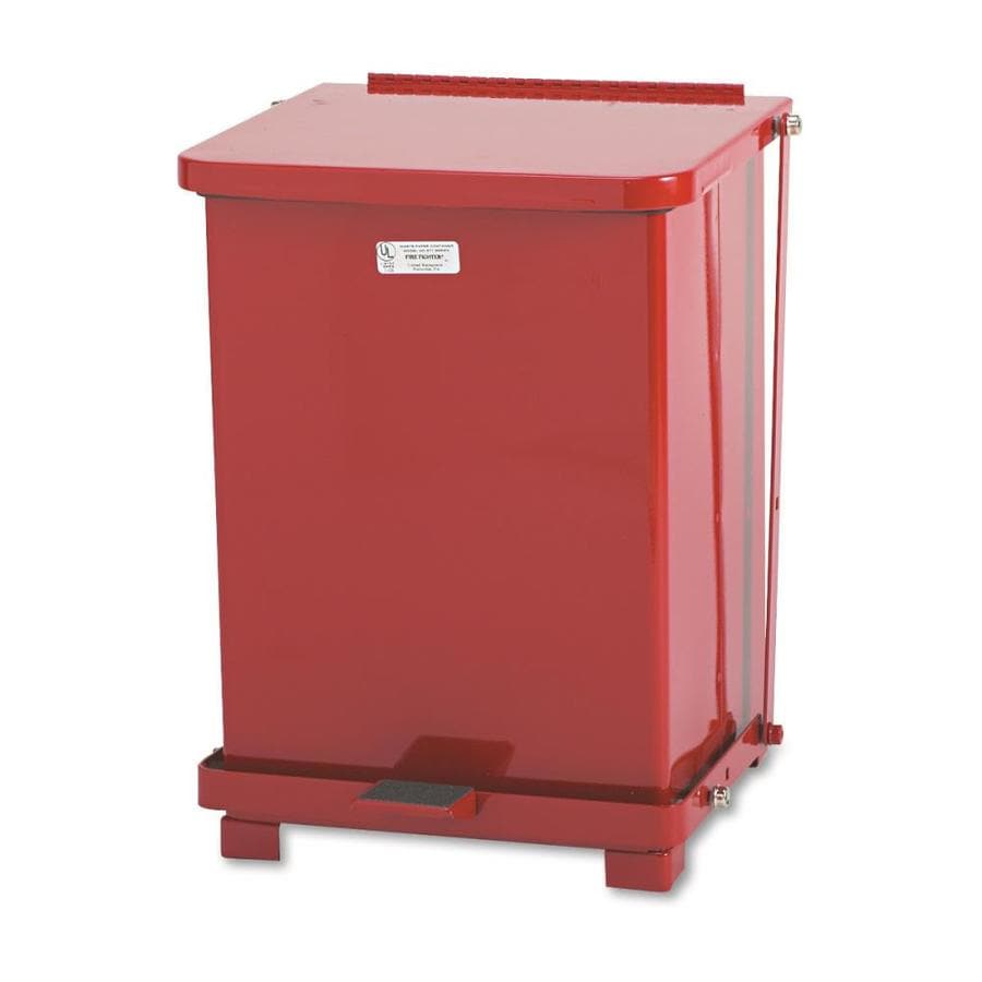Rubbermaid Commercial Products 7-Gallon Red Commercial Trash Can with Lid