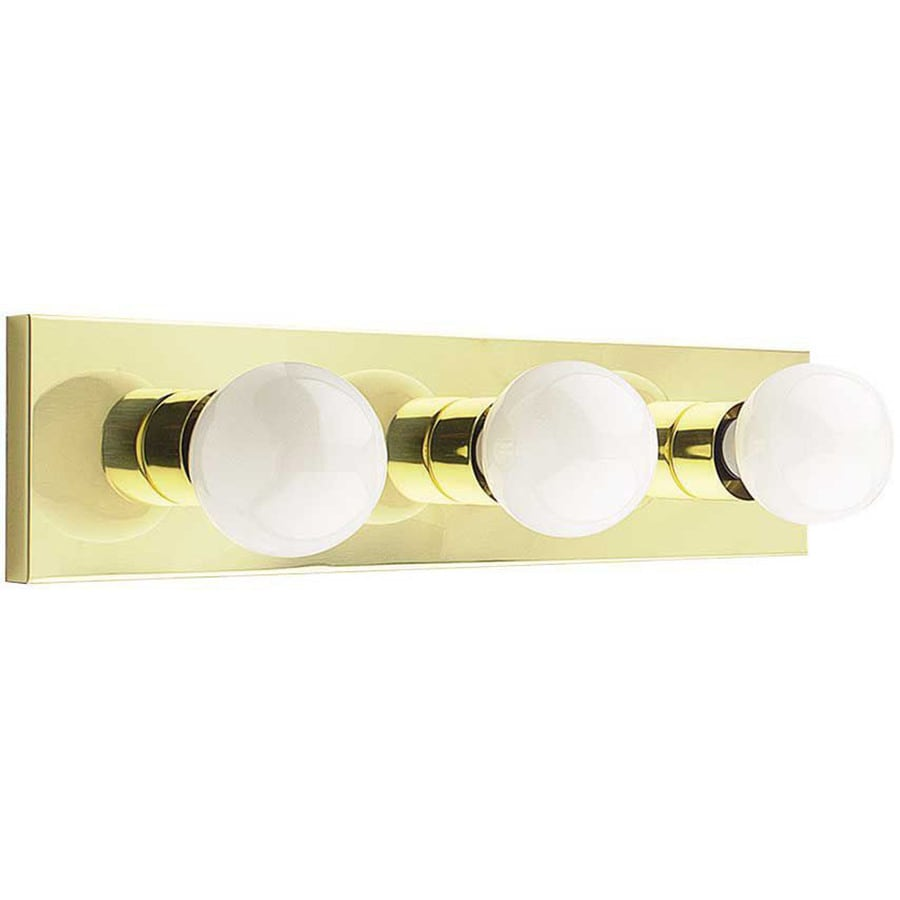 Vanity Lights Brass : Shop 3-Light Ashton Polished Brass Bathroom Vanity Light at Lowes.com