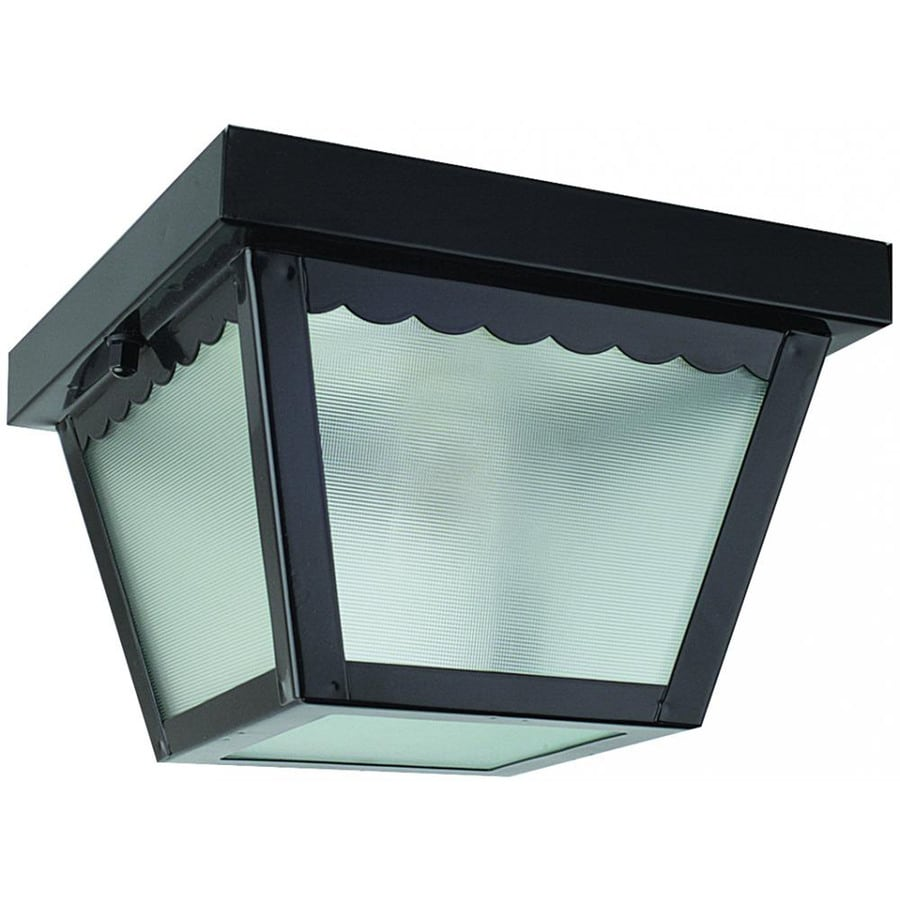 7.5-in W Black Ceiling Flush Mount Light