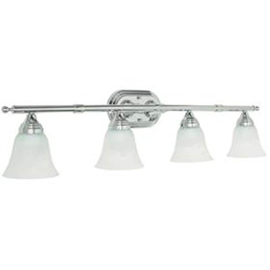 Vanity Lights Polished Chrome : Shop 4-Light Ashton Polished Chrome Bathroom Vanity Light at Lowes.com
