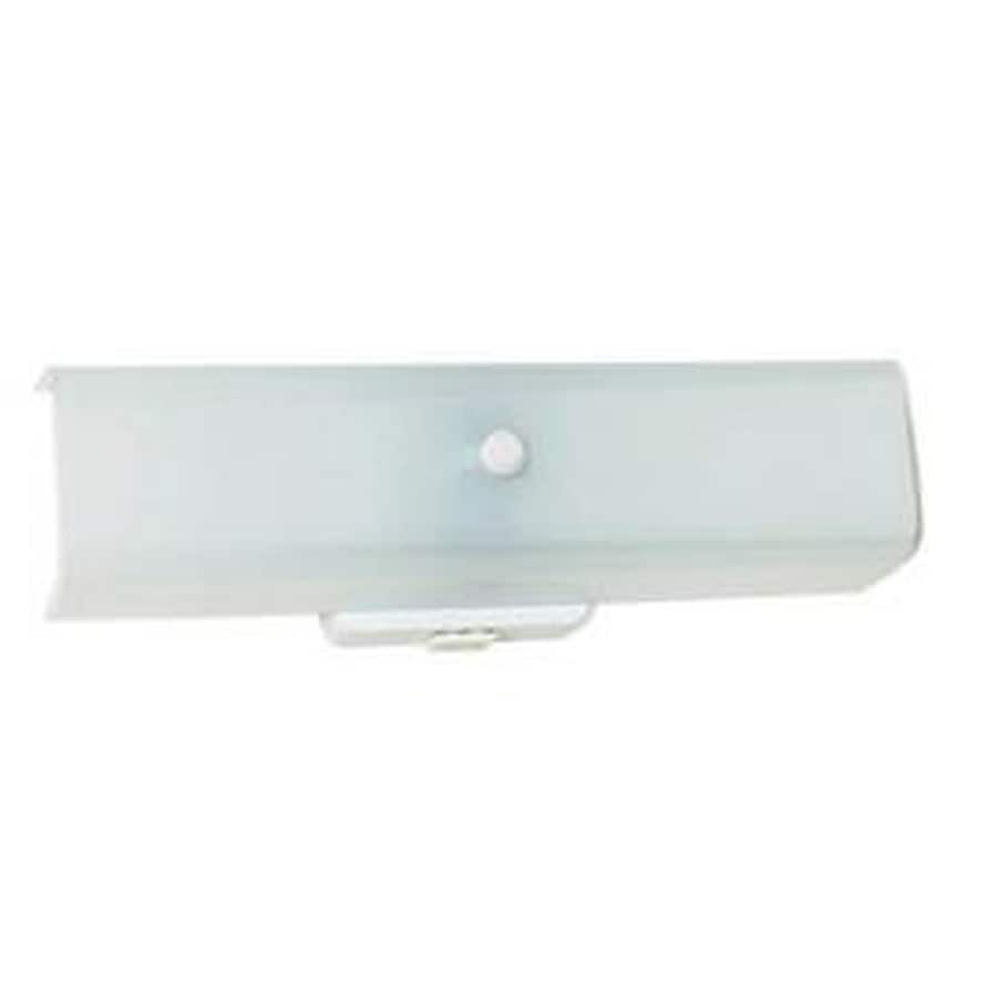 Shop 2 light ashton white bathroom vanity light at for Bathroom light fixtures lowes