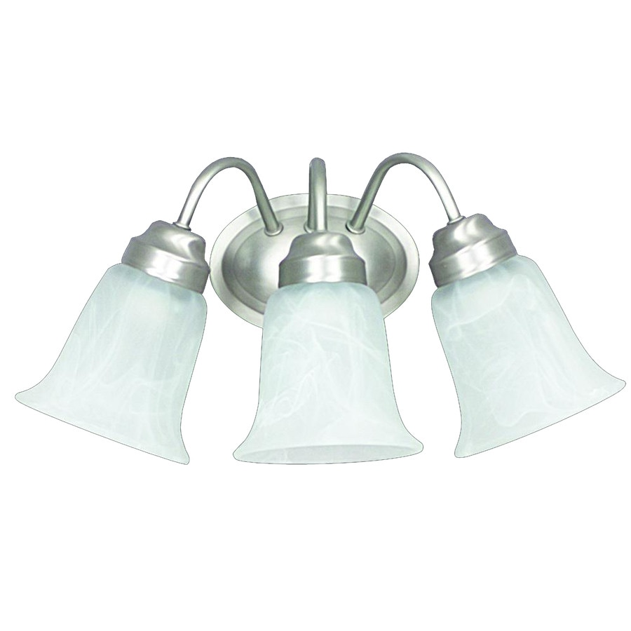 Shop 3-Light Ashton Satin Nickel Bathroom Vanity Light at Lowes.com