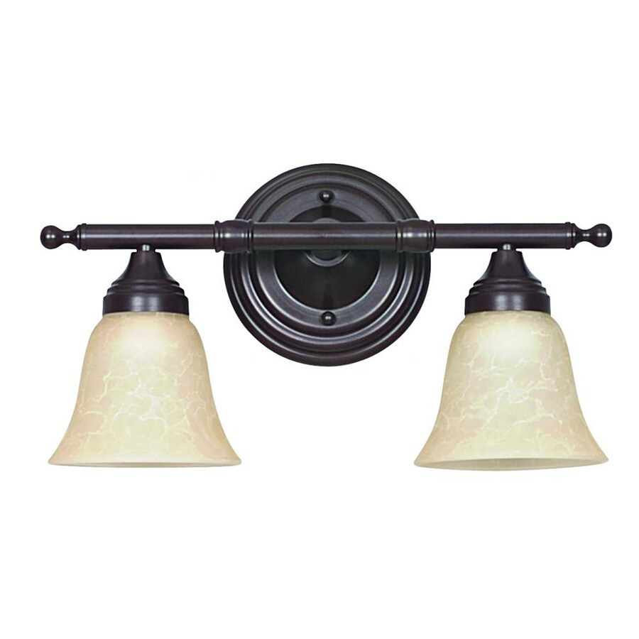 Vanity Lights For Bathroom Bronze : Shop 2-Light Ashton Oil Bronze Bathroom Vanity Light at Lowes.com