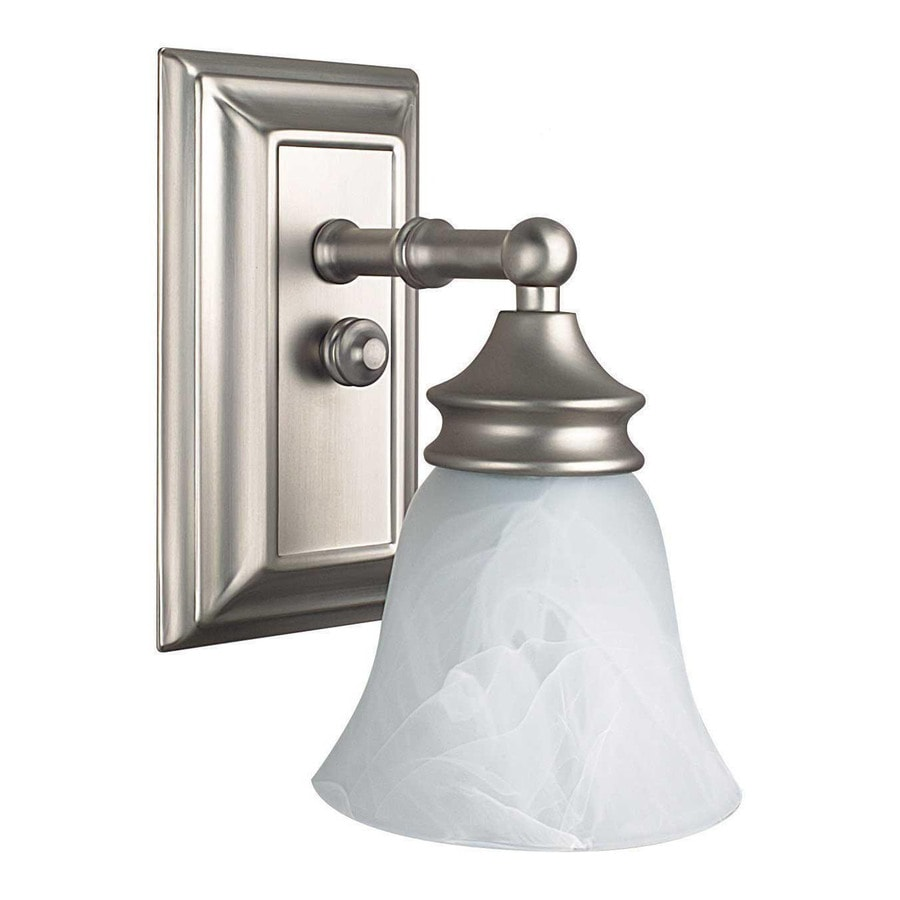Vanity Lights In Lowes : Shop Ashton Bright Satin Nickel Bathroom Vanity Light at Lowes.com