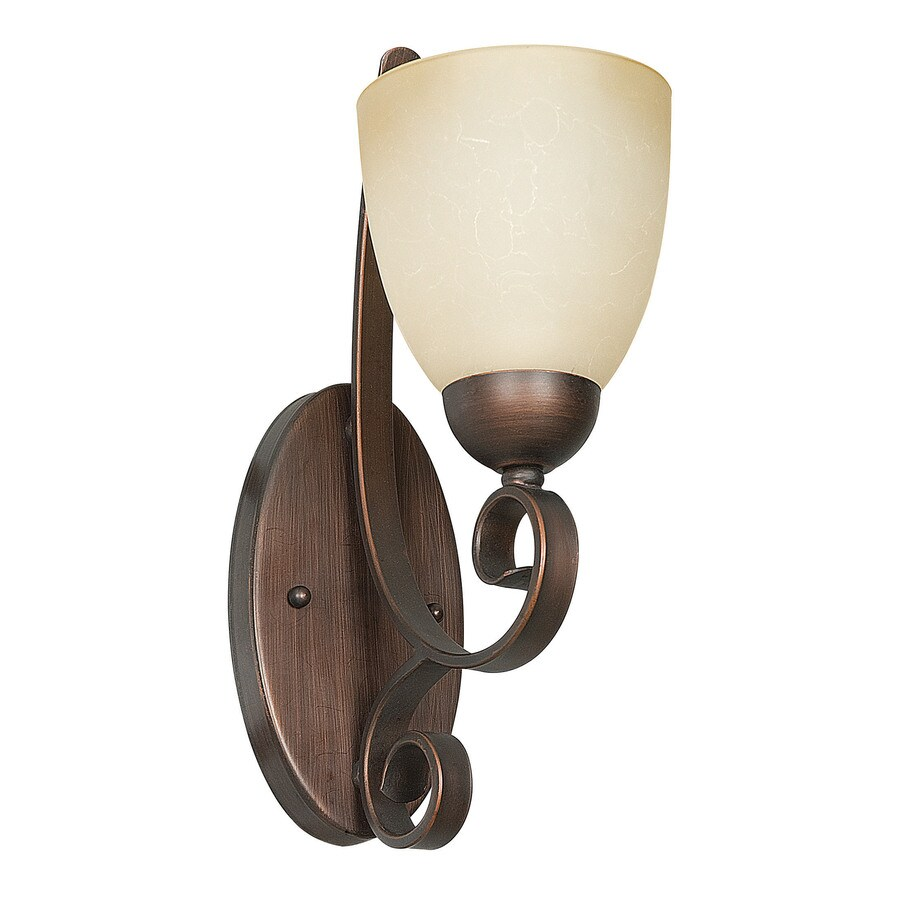 Candle Wall Sconce Light : Shop Ashton 5-in W 1-Light Tique Candle Hardwired Wall Sconce at Lowes.com