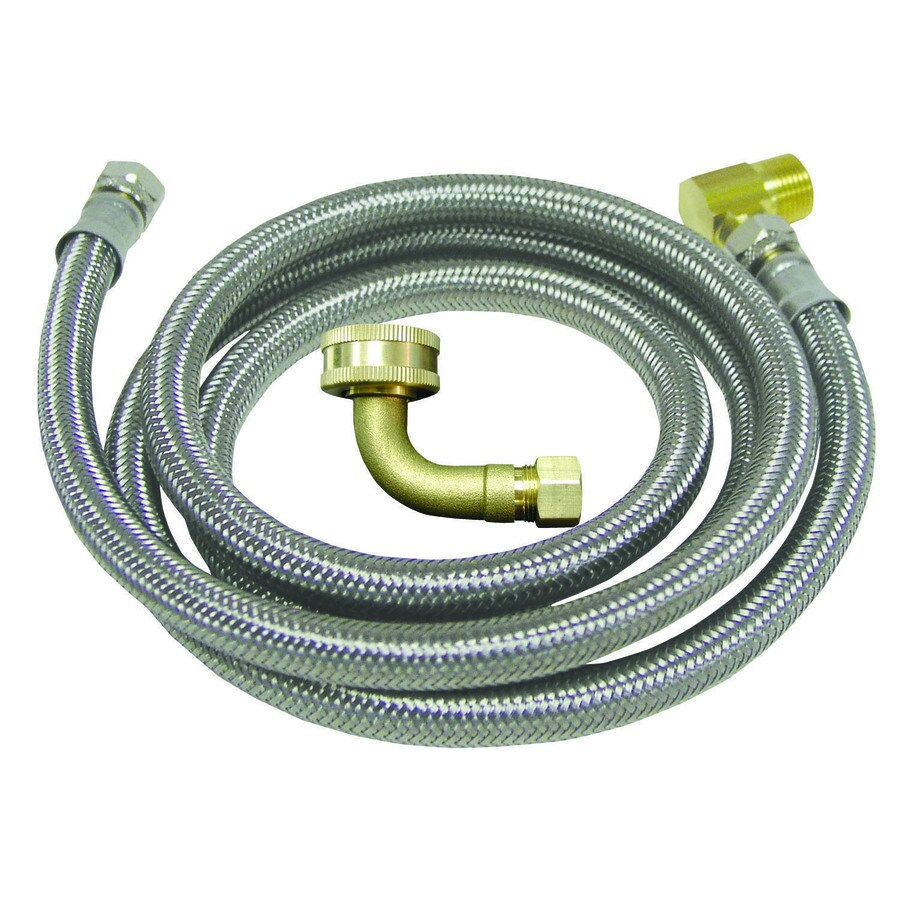 Watts 8-ft 125-PSI Stainless Steel Dishwasher Connector