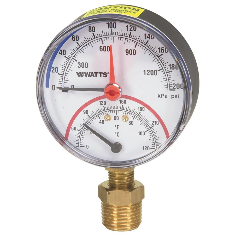 Watts Bottom Entry Pressure and Temperature Gauge