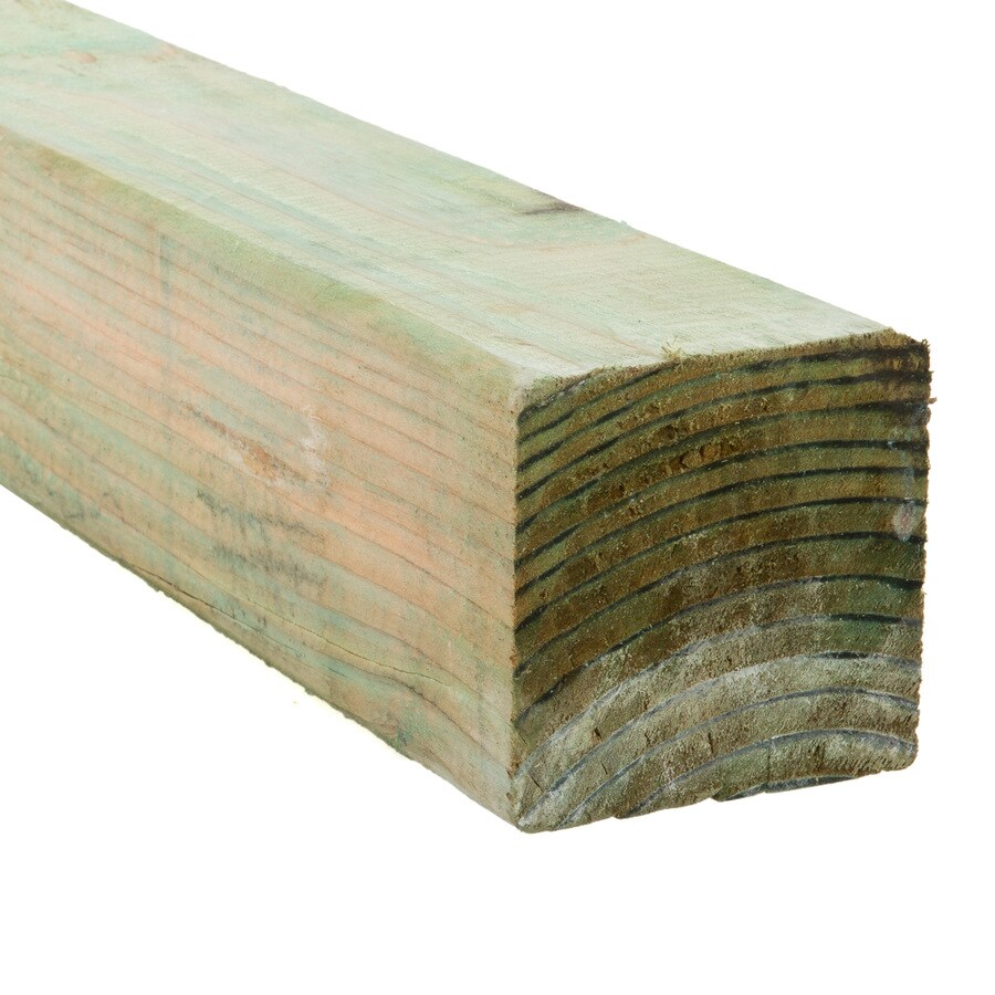 Pressure Treated (Common: 4-in x 4-in x 8-ft; Actual: 3.5625-in x 3.5625-in x 8-ft) Lumber