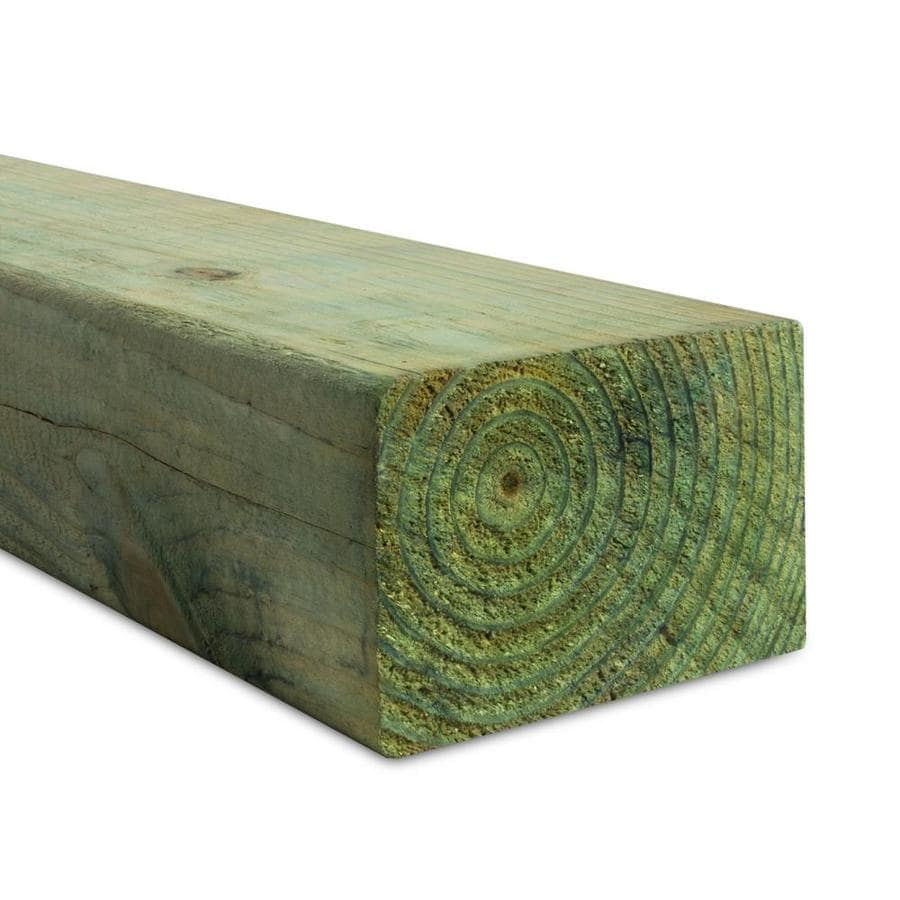 Pressure Treated (Common: 4-in x 6-in x 12-ft; Actual: 3.5625-in x 5.625-in x 12-ft) Lumber