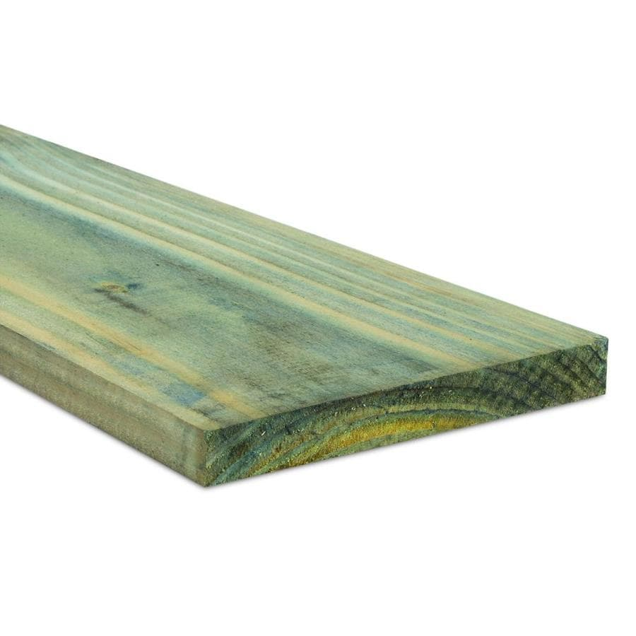 Pressure Treated Douglas/Fir Board (Common: 1-in x 6-in x 16-ft; Actual: 0.781-in x 5.625-in x 16-ft)