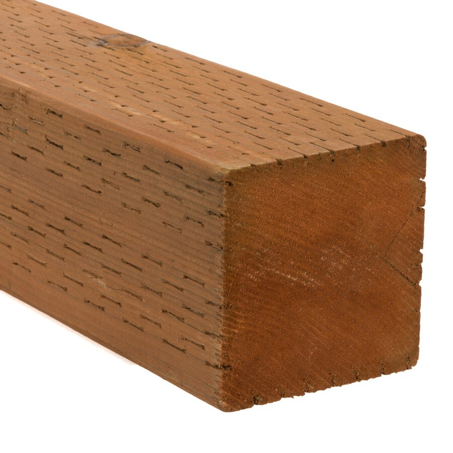 Severe Weather Pressure Treated (Common: 4-in x 4-in x 6-ft; Actual: 3.5625-in x 3.5625-in x 6-ft) Lumber