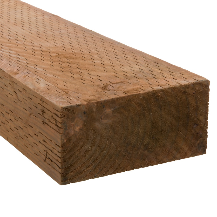 Severe Weather Pressure Treated (Common: 4-in x 8-in x 8-ft; Actual: 3.5625-in x 7.5-in x 8-ft) Lumber