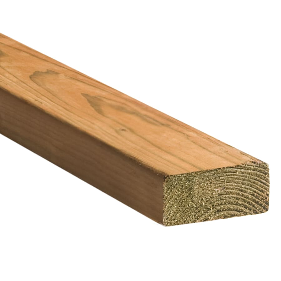 Top Choice Brown Pressure Treated Hemlock Fir Deck Board (Common: 2-in x 4-in; Actual: 1.5-in x 3.5-in x 14-ft)