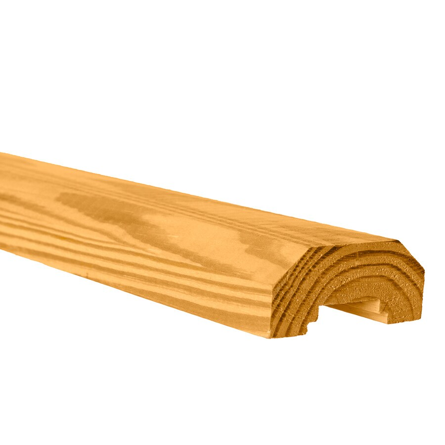 Top Choice Cedar Pressure Treated Southern Yellow Pine Deck Handrail (Common: 2-in x 4-in x 8-ft; Actual: 1.375-in x 3.25-in x 8-ft)