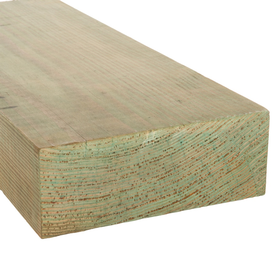 Pressure Treated (Common: 4-in x 10-in x 16-ft; Actual: 3.5625-in x 9.5-in x 16-ft) Lumber