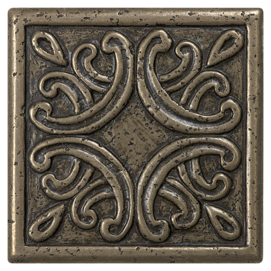 Anatolia Tile Roman Design Bronze Metal Border Tile (Common: 4-in x 4-in; Actual: 3.93-in x 3.93-in)