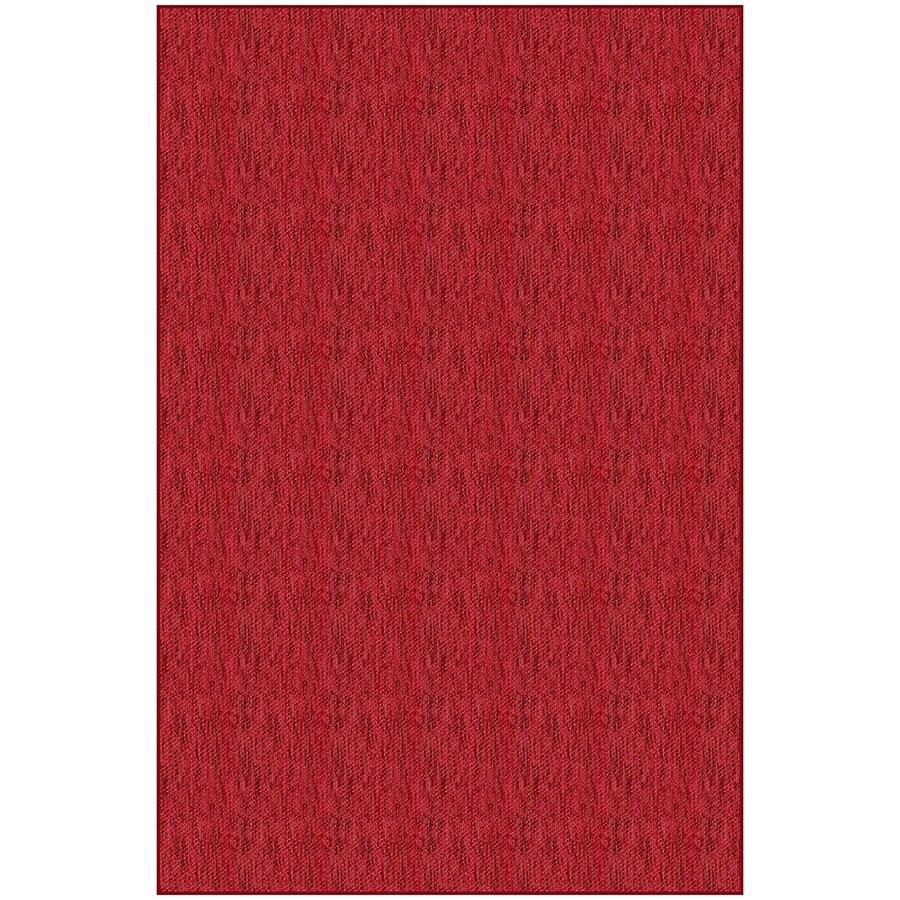 Red Rectangular Indoor Woven Area Rug (Common: 5 x 7; Actual: 58-in W x 88-in L)