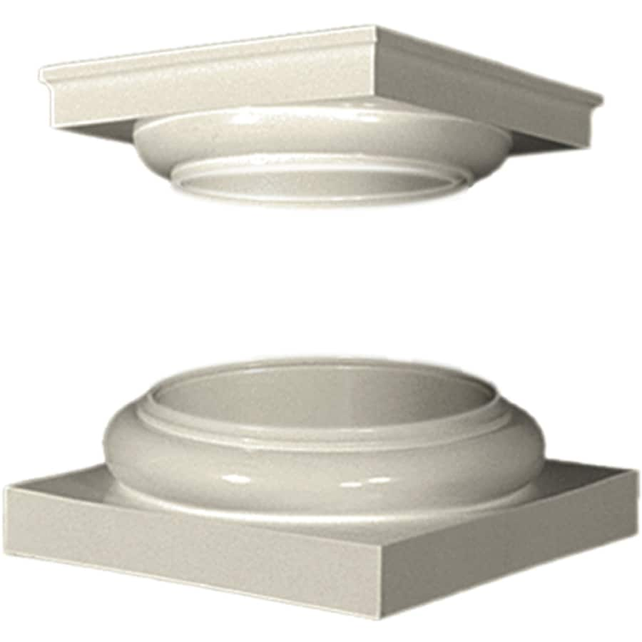 Turncraft 5.25-in x 13.5-in Unfinished Fiberglass Column Cap and Base Kit