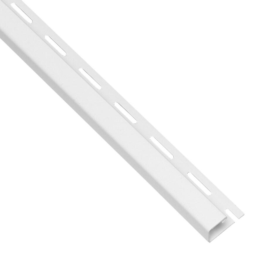 Georgia-Pacific 0.625-in x 150-in White/Pebble J-Channel Vinyl Siding Trim