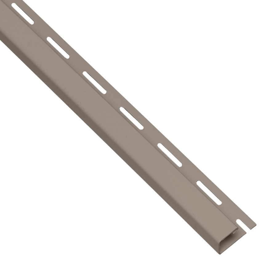 Georgia-Pacific 0.625-in x 150-in Clay/Pebble J-Channel Vinyl Siding Trim