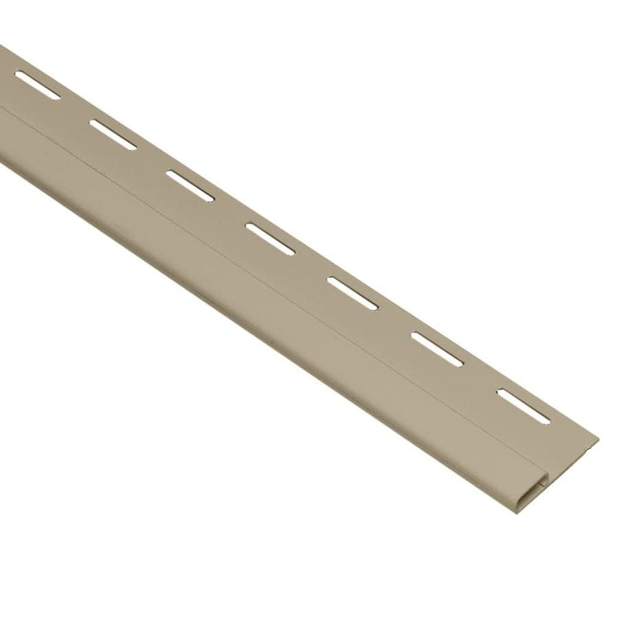 Georgia-Pacific 0.375-in x 150-in Tan/Pebble Undersill Vinyl Siding Trim