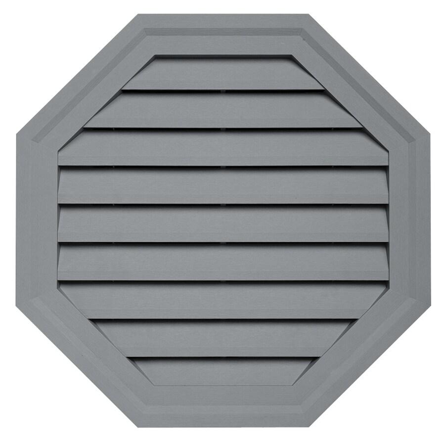 Durabuilt 10.5-in x 15-in Wedgwood/Pebble Octagon Plastic Gable Vent