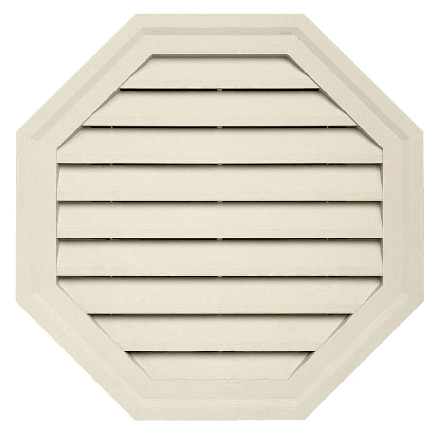 Durabuilt 10.5-in x 15-in Cream/Pebble Octagon Plastic Gable Vent