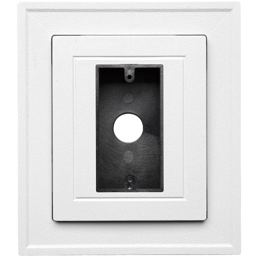 Durabuilt 8.5-in x 7.5-in White/Woodgrain Vinyl Electrical Mounting Block