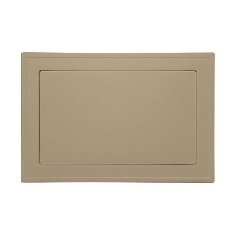 Durabuilt 7.5-in x 8.5-in Almond//Woodgrain Vinyl Universal Mounting Block