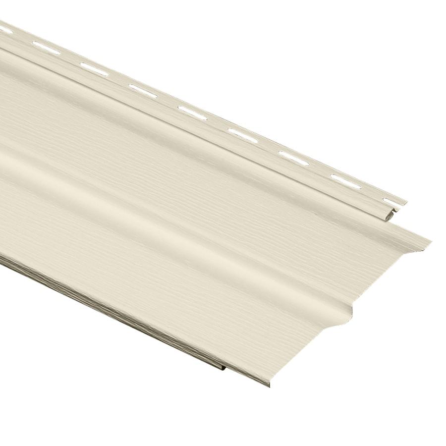 Durabuilt 8-in x 150-in Cream Dutch Lap Vinyl Siding Panel