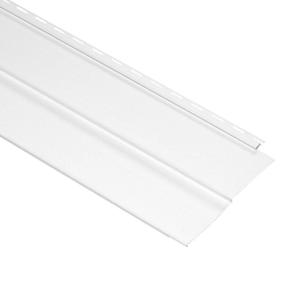 Durabuilt 10-in x 144-in White Traditional Vinyl Siding Panel