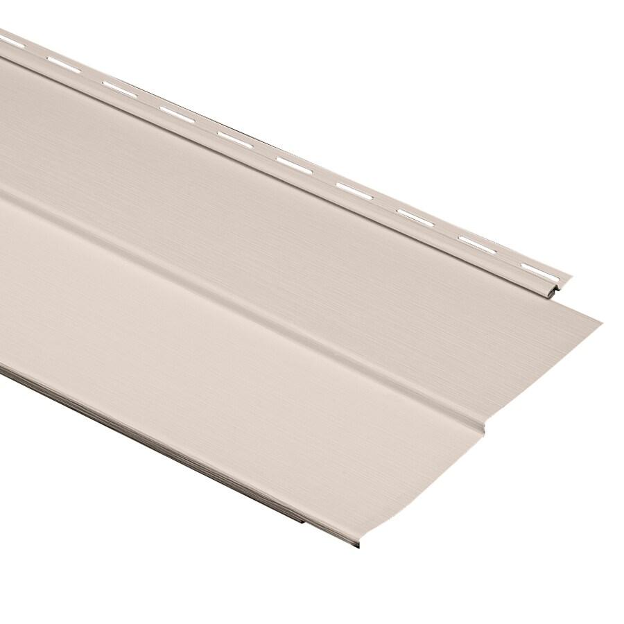 Durabuilt 10-in x 144-in Beige Traditional Vinyl Siding Panel