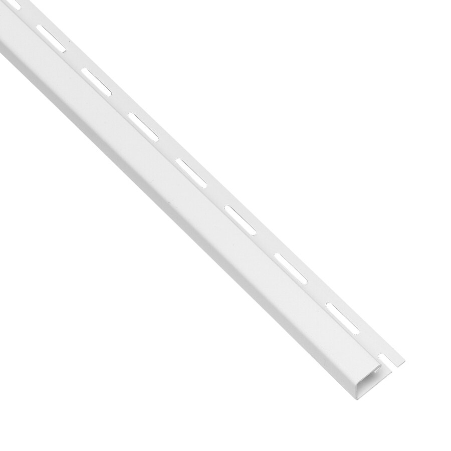 Durabuilt 0.375-in x 150-in White J-Channel Vinyl Siding Trim