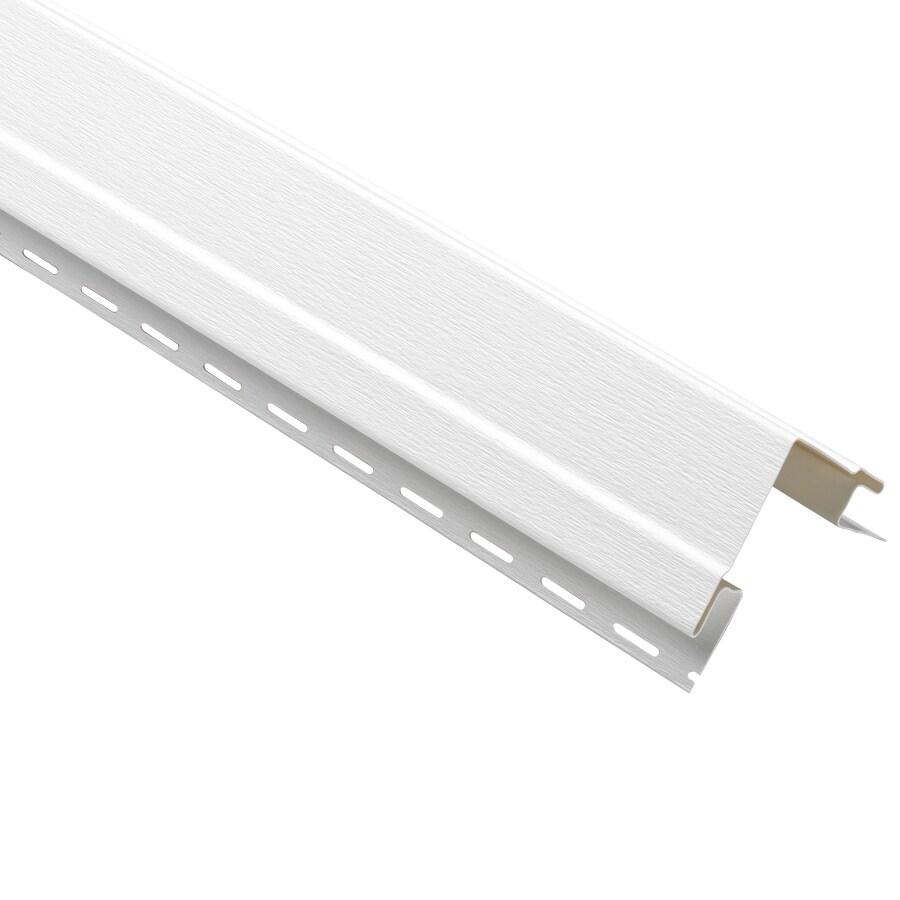 Durabuilt 4-in x 120-in White Outside Corner Post Vinyl Siding Trim