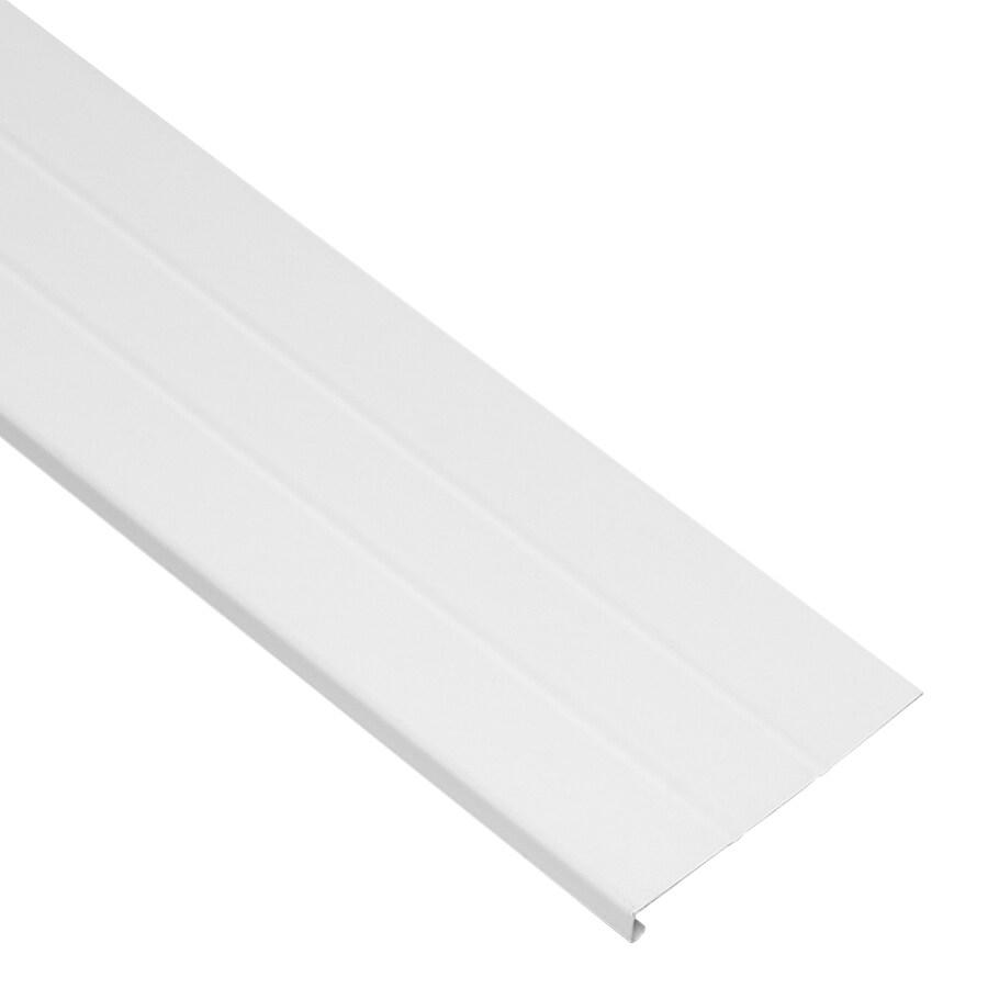 8-in x 12.5-ft White Smooth Fascia