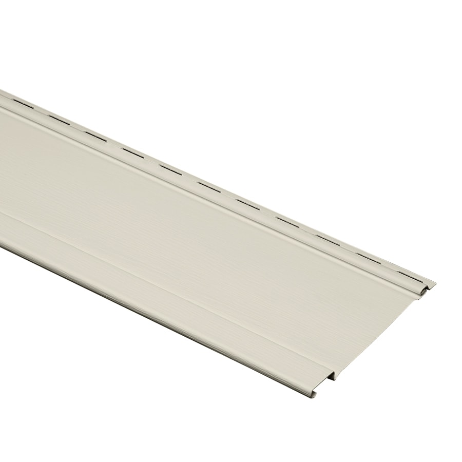 Durabuilt 7-in x 120-in Almond Board and Batten Vinyl Siding Panel