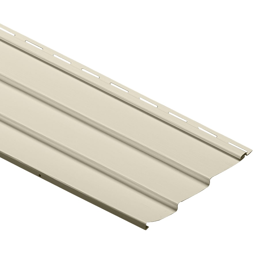Durabuilt 9-in x 145-in Cream Traditional Vinyl Siding Panel
