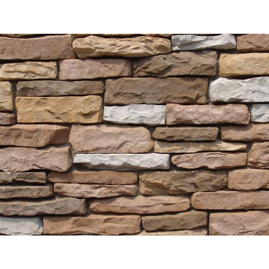 Ply Gem Stone Shadow Ledgestone 10-sq ft Earthtone Faux Stone Veneer