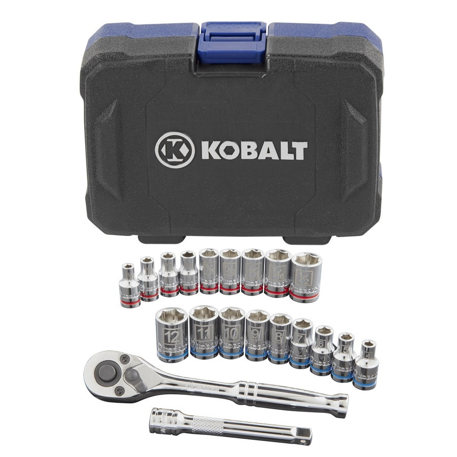 Kobalt 20-Piece Standard (SAE) and Metric Combination Mechanic's Tool Set