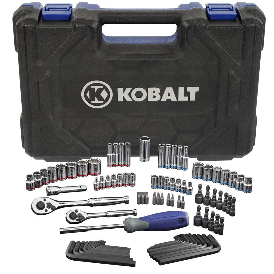 Kobalt Standard (SAE) and Metric Mechanic's Tool Set with Hard Case (93-Piece)