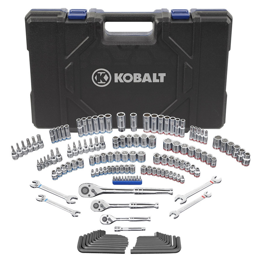 Kobalt 154-Piece Standard (SAE) and Metric Combination Mechanic's Tool Set