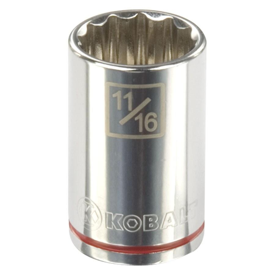 Kobalt 1/2-in Drive 11/16-in Shallow 12-Point Standard (SAE) Socket