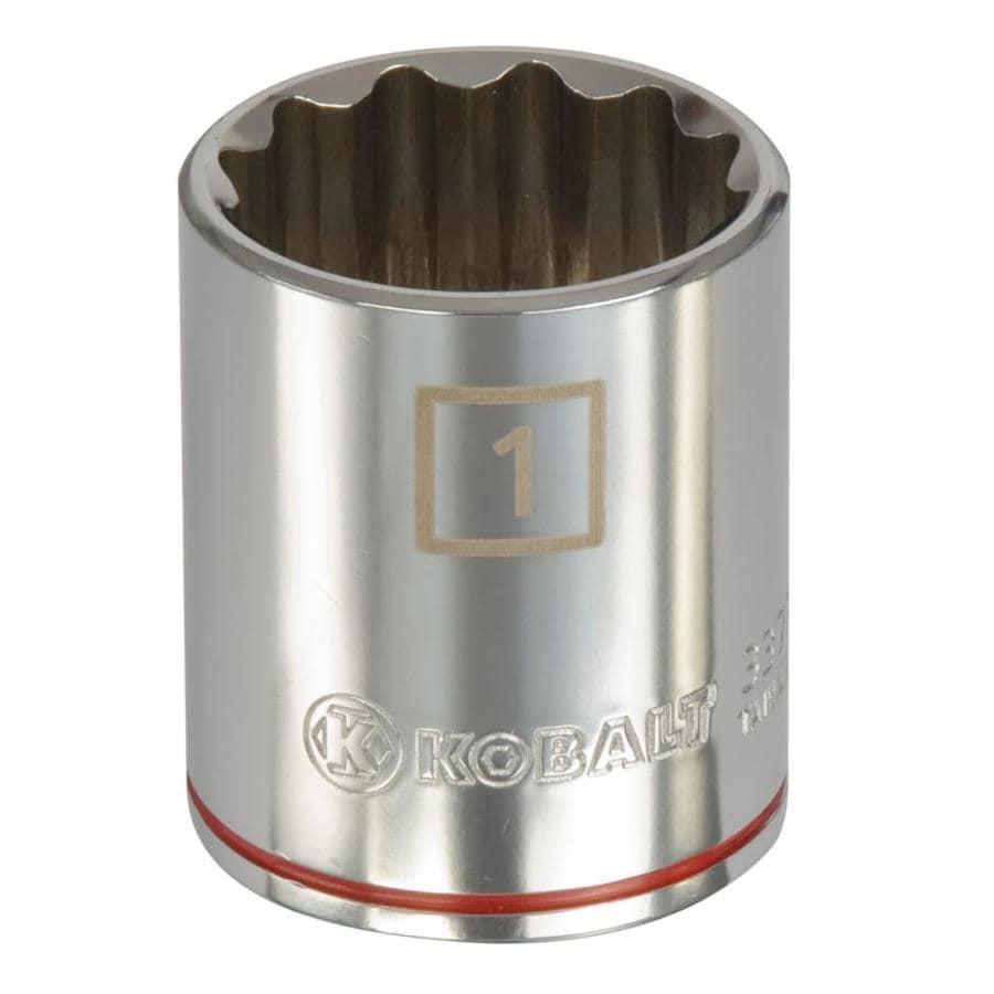 Kobalt 1/2-in Drive 1-in Shallow 12-Point Standard (SAE) Socket