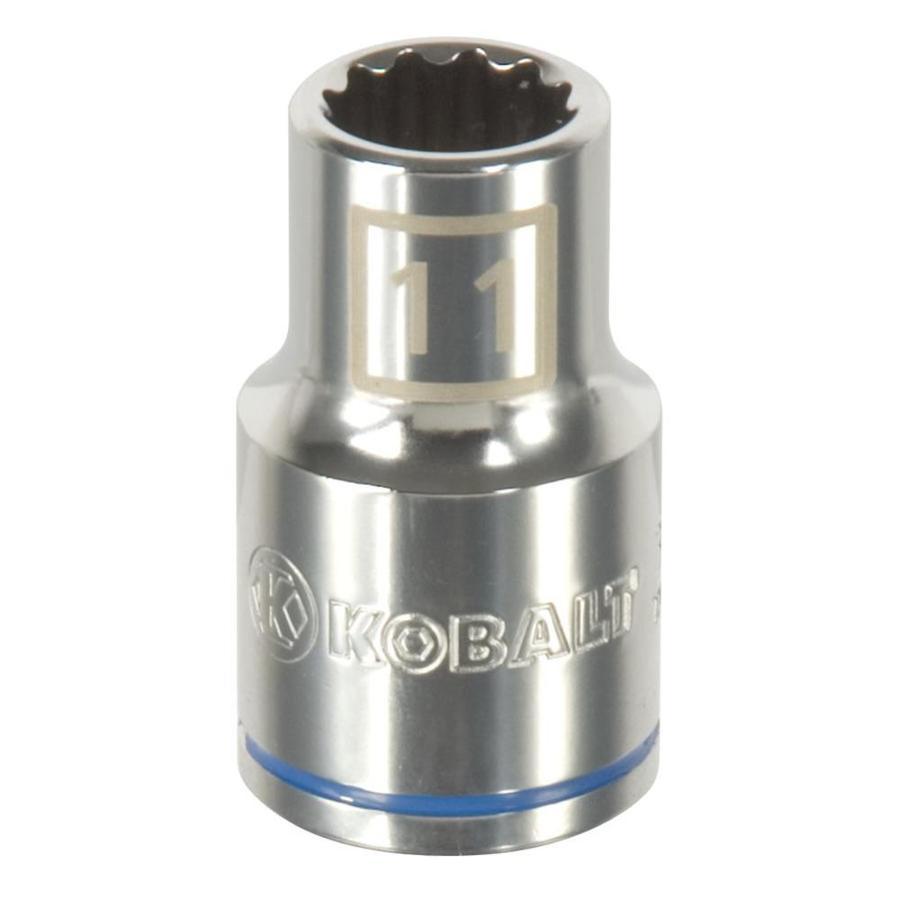 Kobalt 1/2-in Drive 11mm Shallow 12-Point Metric Socket