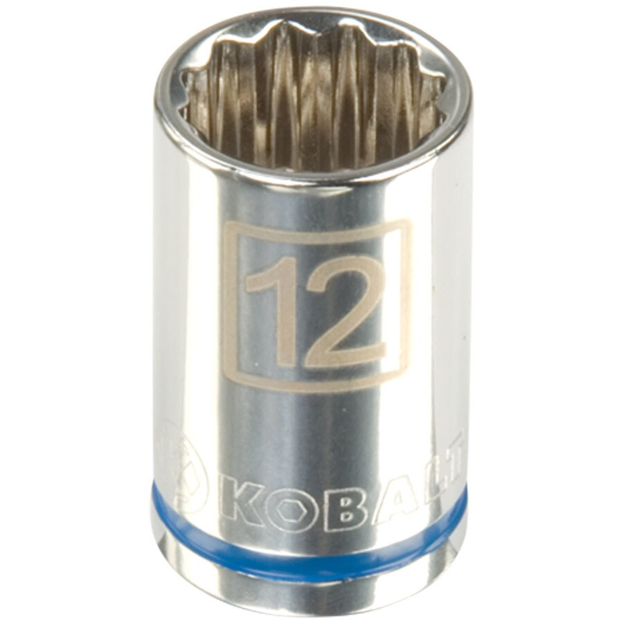 Kobalt 1/2-in Drive 12mm Shallow 12-Point Metric Socket