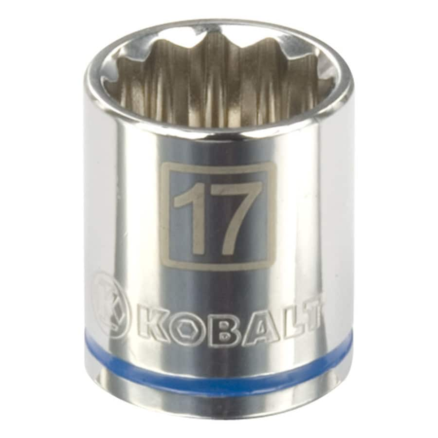 Kobalt 1/2-in Drive 17mm Shallow 12-Point Metric Socket
